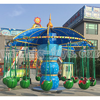16 Seats Kids Funny Blue Flying Chair,Kids Amusement Flying Chair Rides,Amusement Flying Chair Equipment