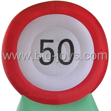inflatable base with number