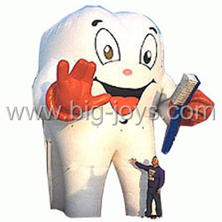 inflatable tooth and brush